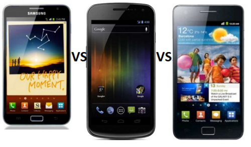 Samsung Galaxy Nexus Vs Galaxy S2 Vs Galaxy Note