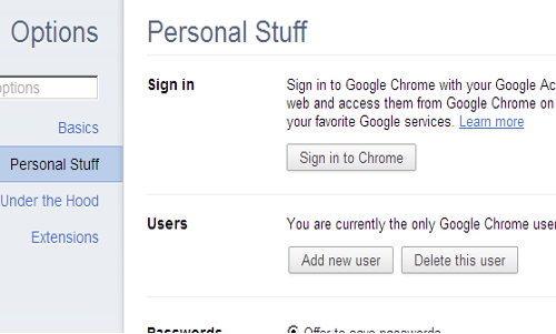 how to download chrome sync data from account