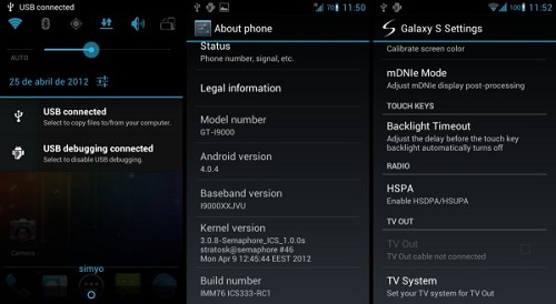 ICS333 ROM I9000 How To Install Android 4.0.4 On Galaxy S i9000