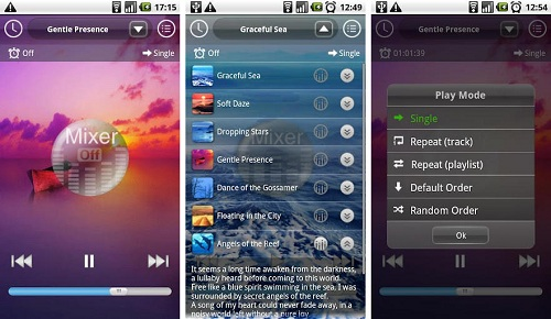 music therapy screenshots Having Trouble Sleeping? Android Is Here To Help With The Apps Designed To Get You Sleep