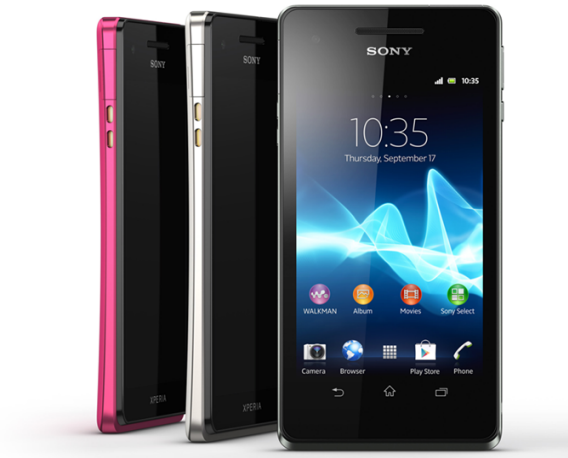 Sony Xperia V SONY Introduces Three New Android Smartphones : Xperia T, Xperia V & Xperia J