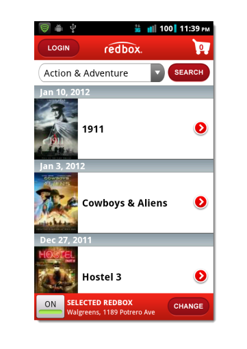 Redbox app Redbox app for Android Updated with Many Useful Features