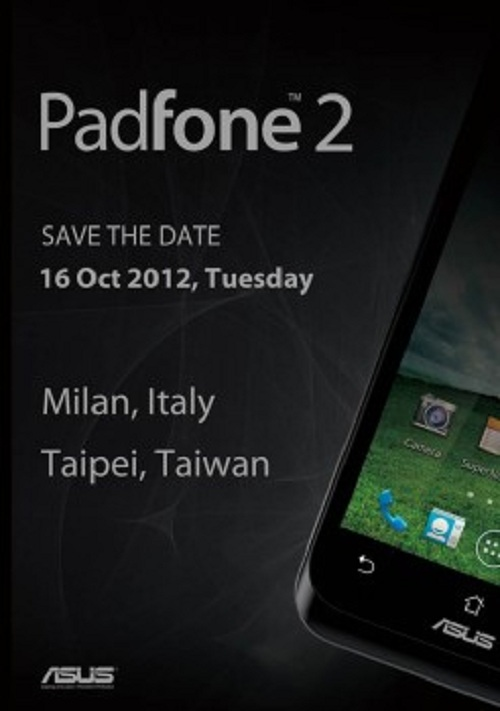 Asus Dual Padfone 2 Planned To Be Launched On 16th October