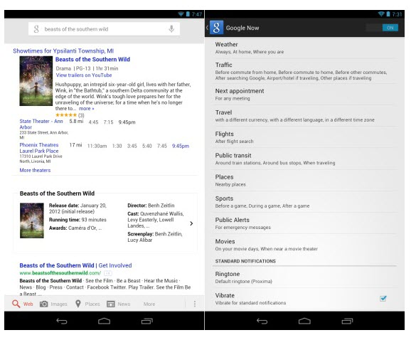 Google Search Google Search Updated with New Features for Android 4.1
