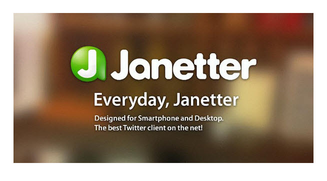 Janetter Janetter : The Best Twitter Client App Which Allows to Access Multiple Accounts Simultaneously