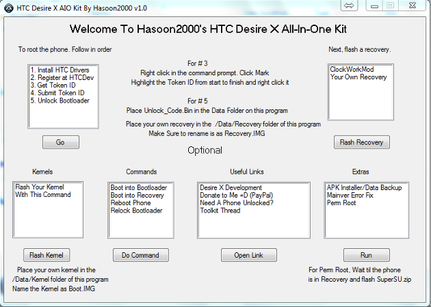 How to Root HTC Desire X with All-In-One Toolkit V1 1 (One