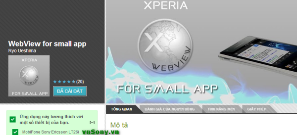 XperiaWebView WebView   Its a Small App for Sony Xperia and Web Browser