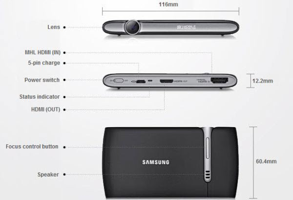 Samsung Mobile Beam Projector Samsung Mobile Beam Projector EAD R10 : An Accessory for Samsung Galaxy Devices