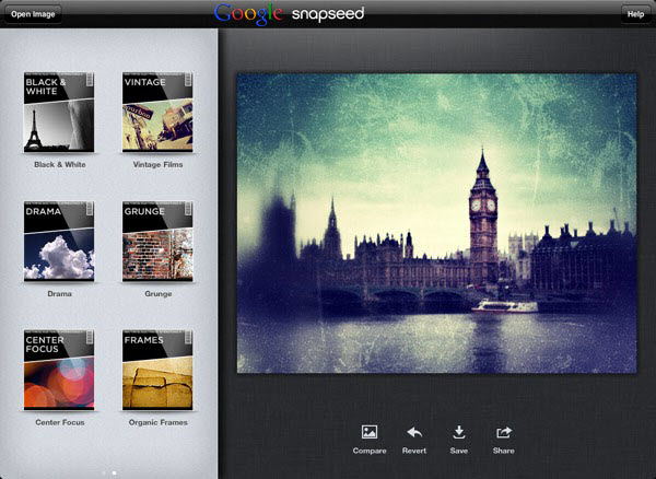 Snapseed Snapseed one of the Photo Editing App Now Available in Google Play Store