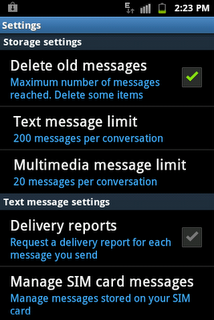 Text message app