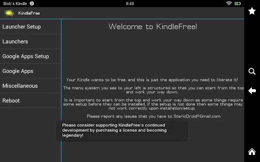 KindleFree Kindle Free : An App to Install Third Party Launcher in Kindle Fire HD