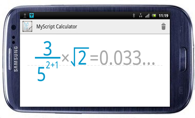 MyScript Calculator My Script Calculator App Lets you to Make Calculations By Using Your Own Handwriting