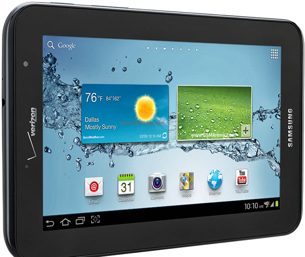 Verizon Galaxy Tab 2.7.0